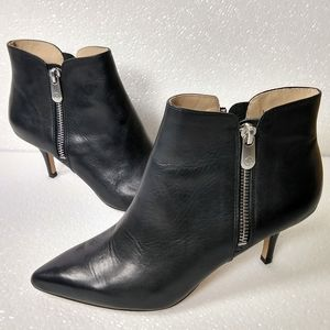 Adrienne Vittadini black leather ankle booties 5.5